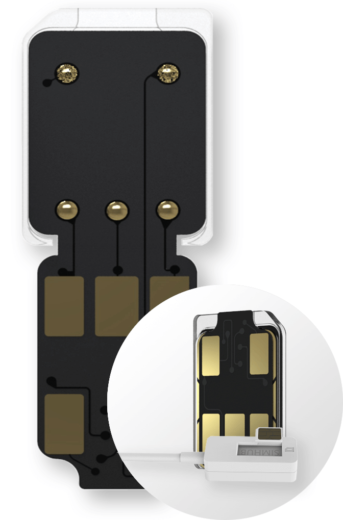 SIMHUB iPhone Dual SIM Card Adapter